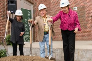 Linny Frickman at the groundbreaking of the Art Museum