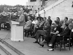 President Truman at the Lincoln Memorial June 29, 1947
