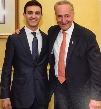 Andre Foltz with Senate Minority Leader Chuck Schumer