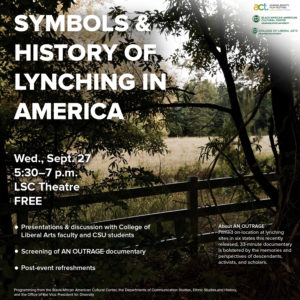 Graphic of Symbols and History of Lynching in America event details