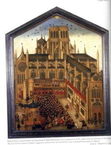 Painting of St Paul's Preaching Cross in 1616