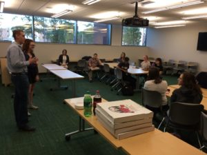 Students gathered for the first ever Political Science Club meeting