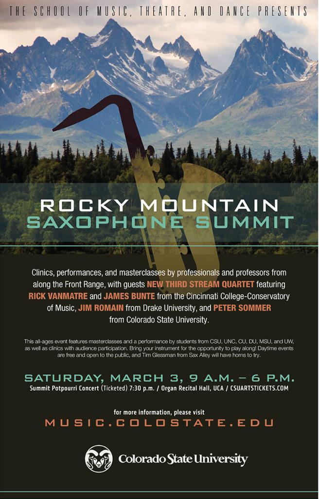 Rocky Mountain Saxophone Summit promotional poster