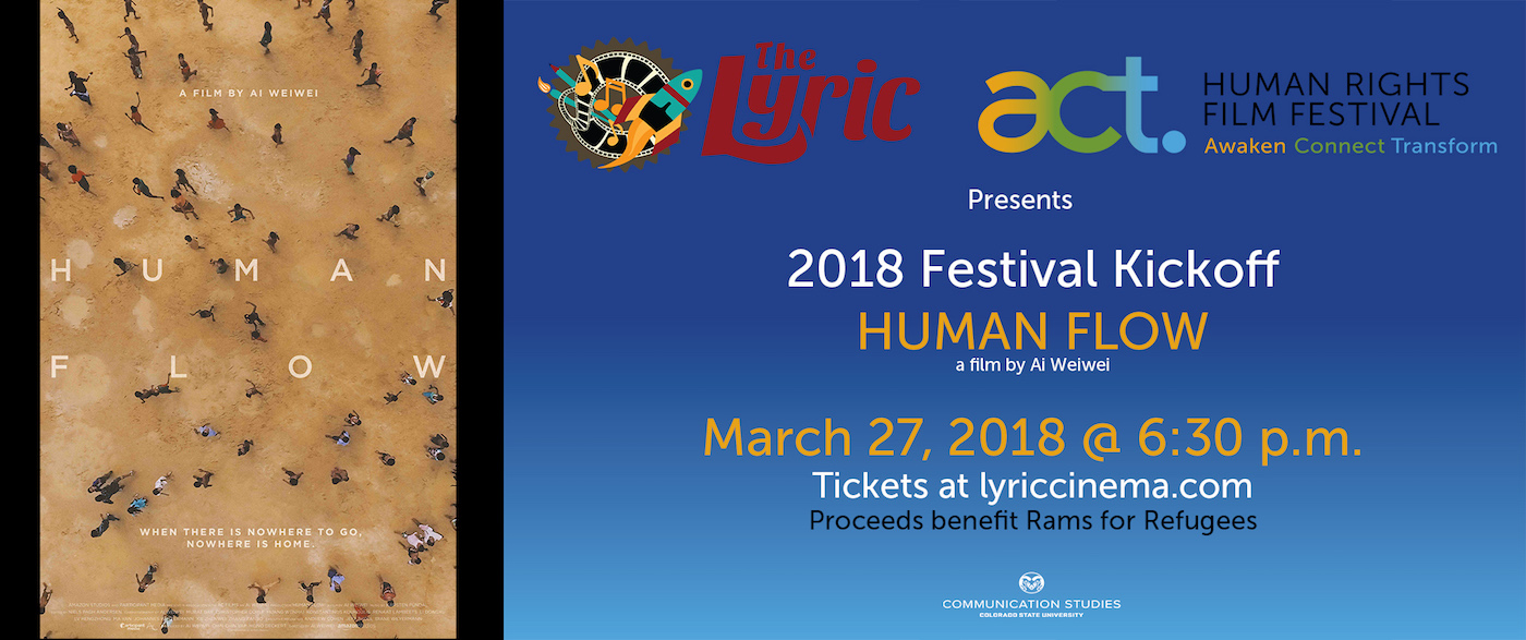 Human Flow event flyer