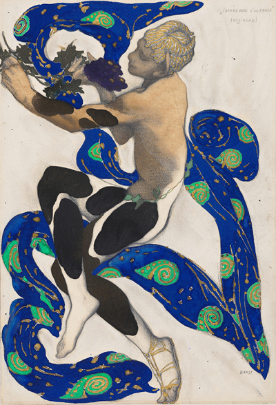 Leon Bakst costume rendering for The Afternoon Of A Faun (1912). [Credit: Diaghilev and the Ballets Russes