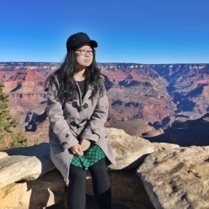 Feixue Mei at the Grand Canyon