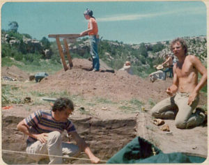 1975 archaeology field school excavation
