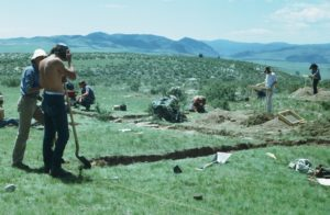 CSU Archaeology Field School excavating site in Colorado