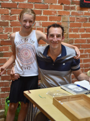 Todd Mitchell and his daughter at book signing