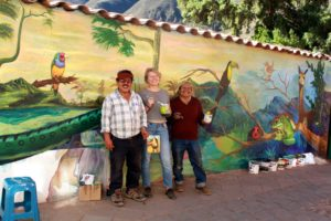 Anna Wiig working with artists in Peru