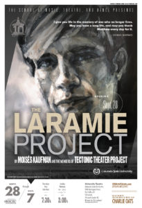 Promotional poster for CSU's production of The Laramie Project