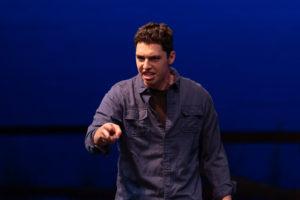 Theatre major Jake Cuddemi in The Laramie Project