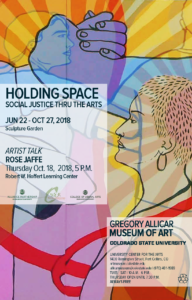 Rose Jaffe Artist Talk and Holding Space Event Poster