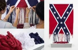 Torn Confederate Flag