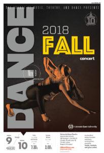 Fall Dance Concert publicity poster