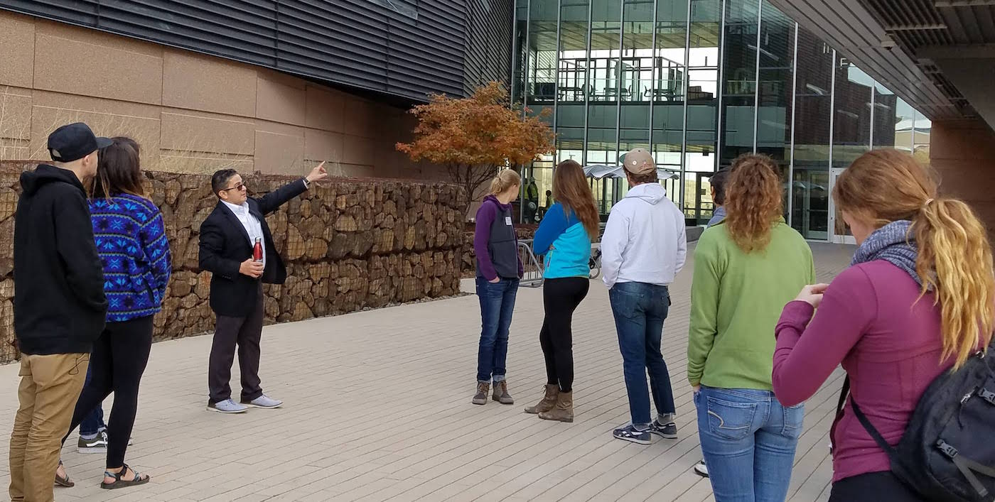Students touring NREL