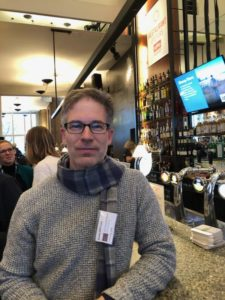 Dr. Scott Diffrient at the Human Rights Film Network annual meeting brunch in Amsterdam