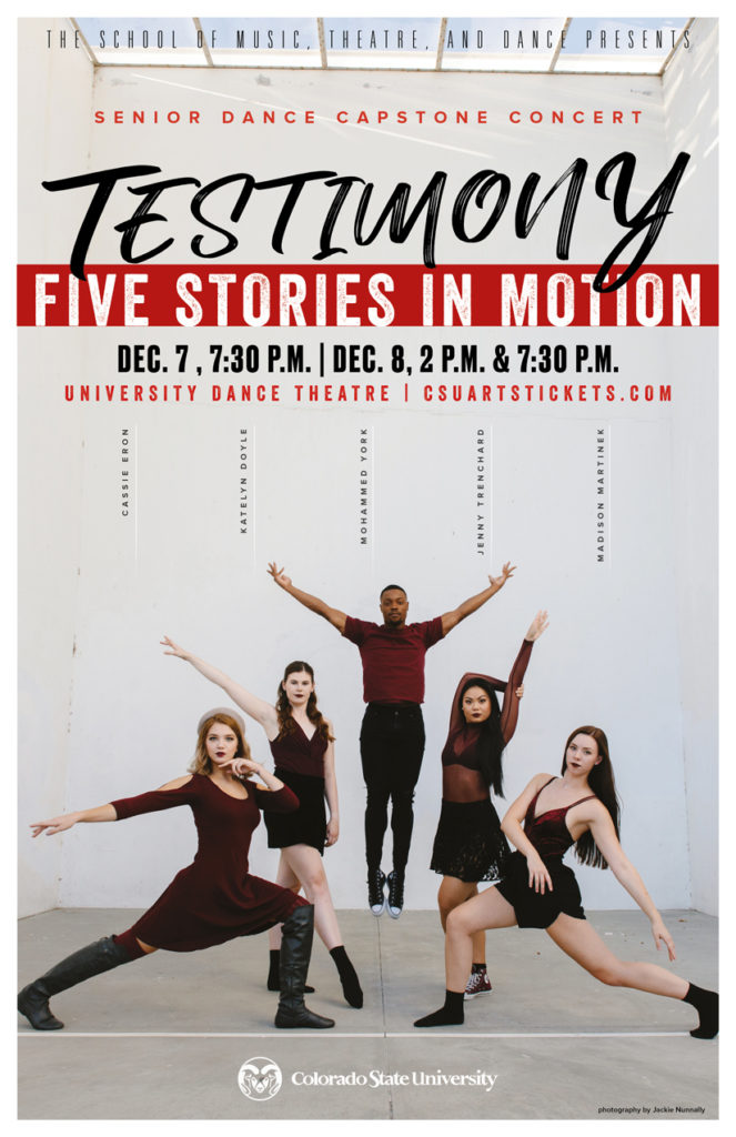 Dance Capstone Concert promotional poster