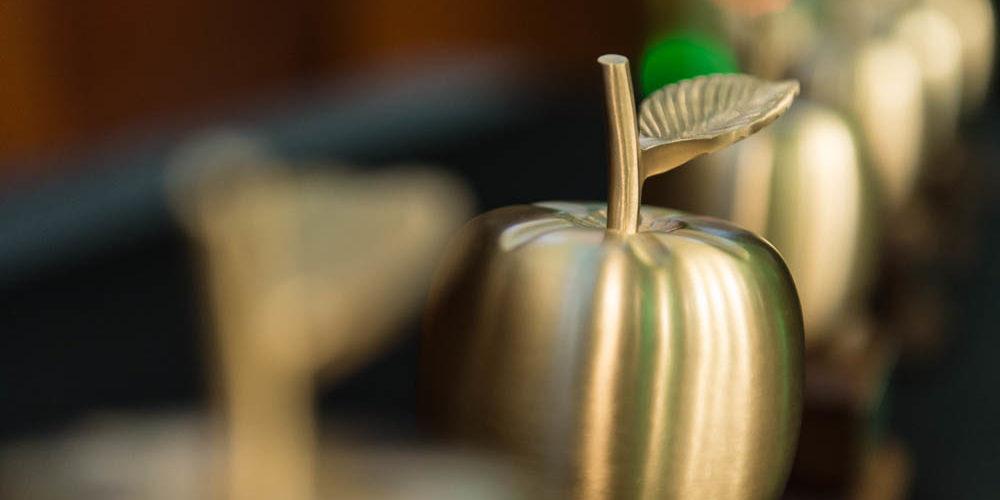 Best Teacher Award is a golden apple