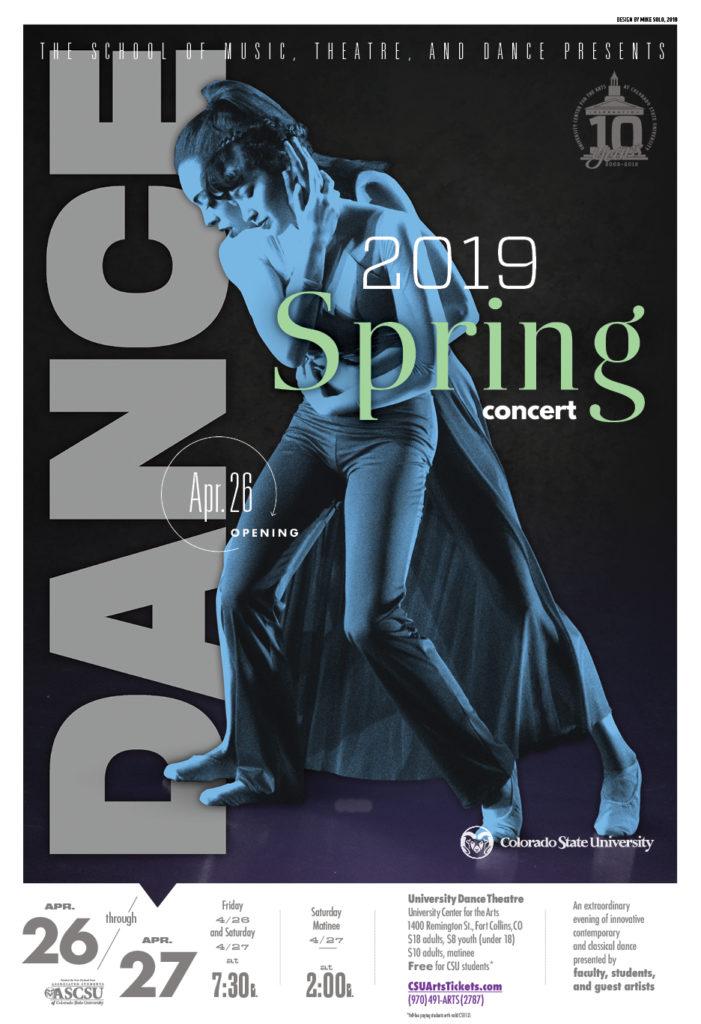 Spring Dance Concert promotional poster