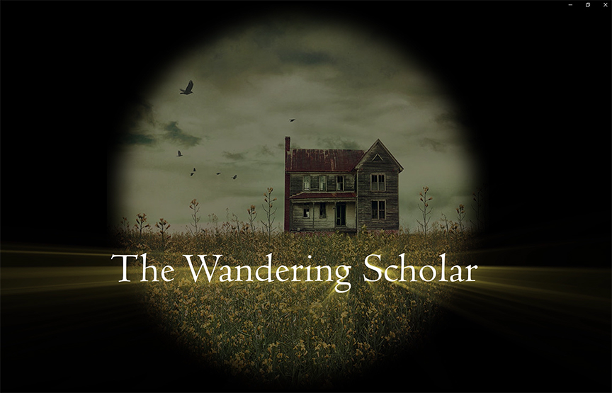 The Wandering Scholar title screen