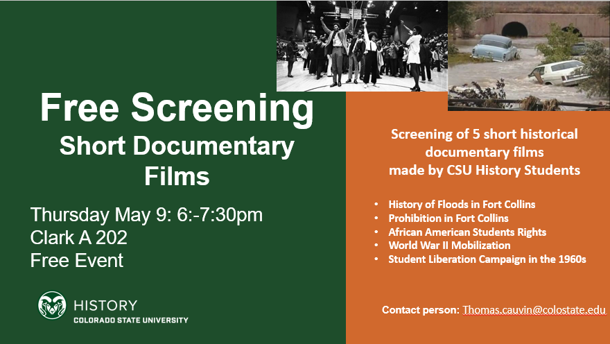 Short Historical Documentary Film Screening Flyer