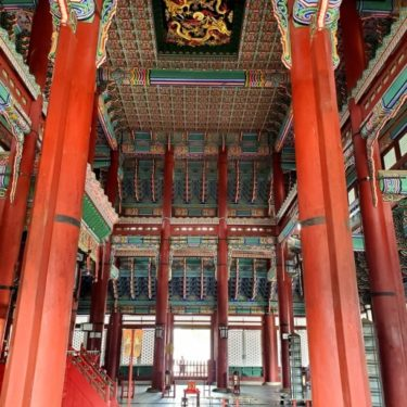 Inside a South Korean temple