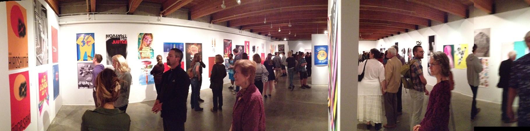 Viewers in gallery