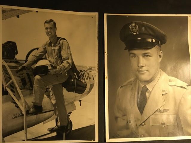 Emeritus professor Dan Tyler when he was an officer in the USAF in 1957