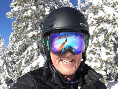 Emeritus professor Dan Tyler skiing in Steamboat Springs, Colorado