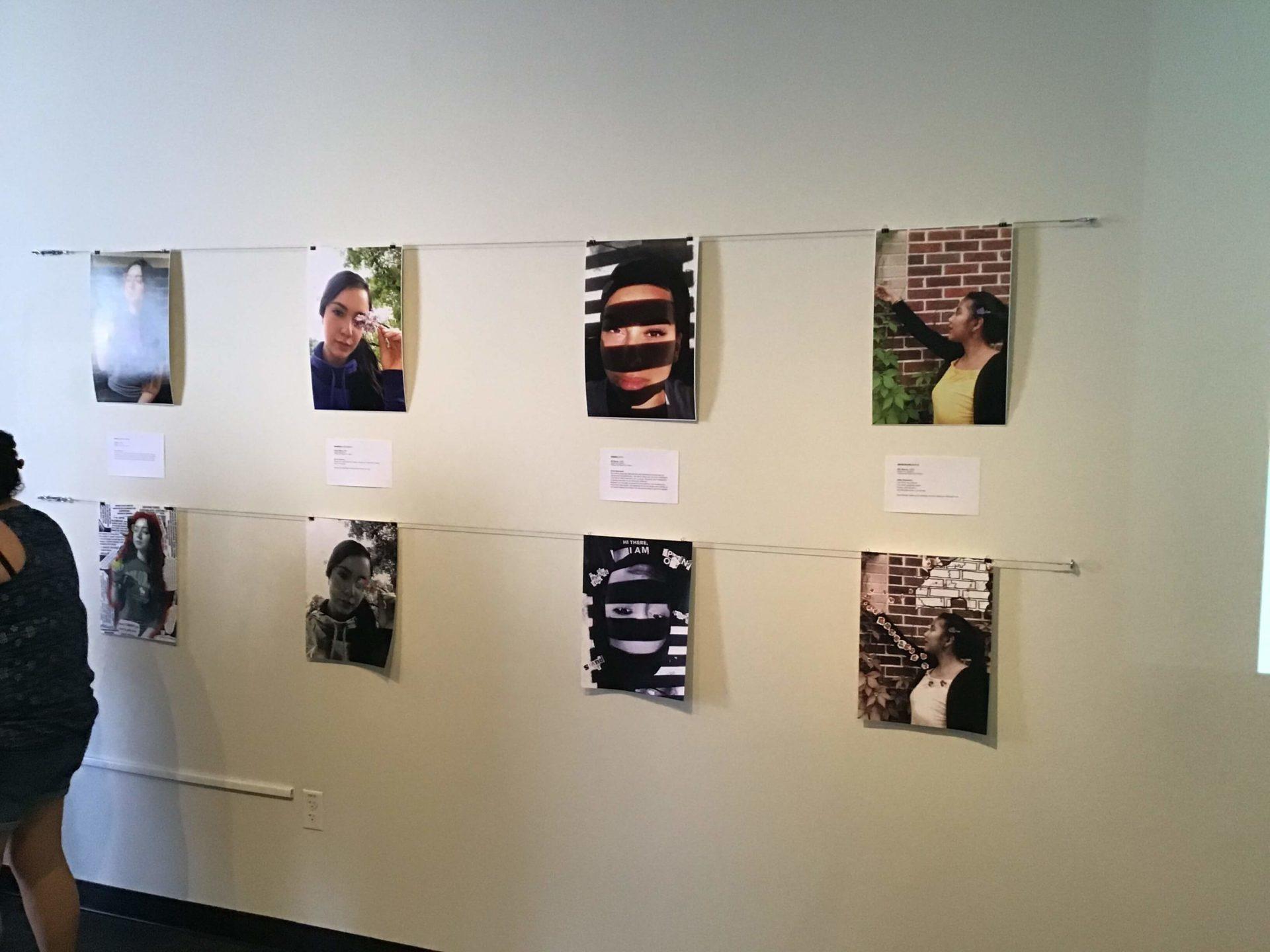 Social Justice Thru the Arts 2019 selfies displayed