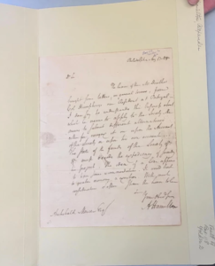 An authentic letter written by Alexander Hamilton