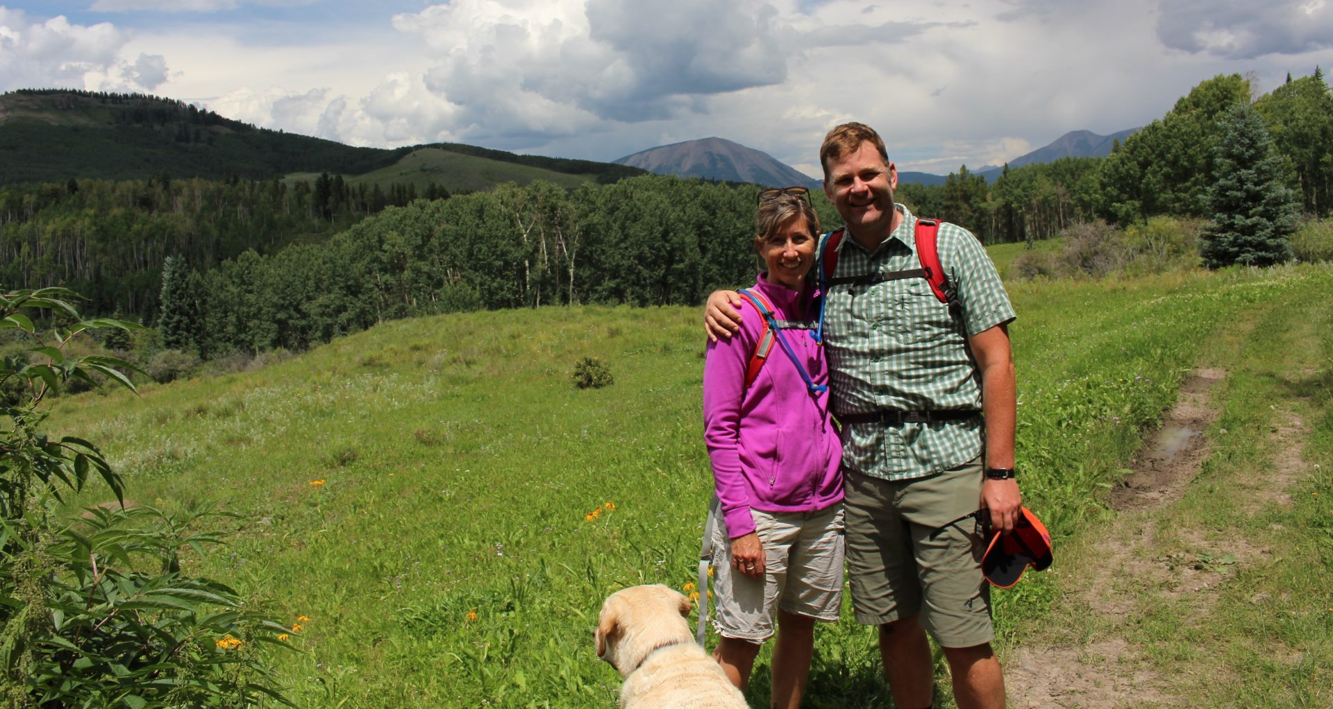 Michael and Leisl in Gunnison National Forest