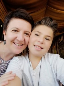 Gamze Cavdar and her son Ada