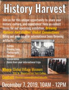 History Harvest flyer