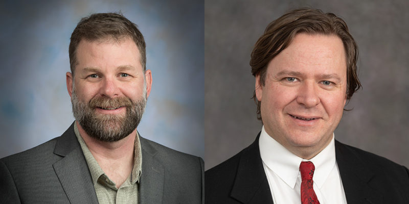 Michael Childers and Adam Thomas, faculty in the CSU Department of History
