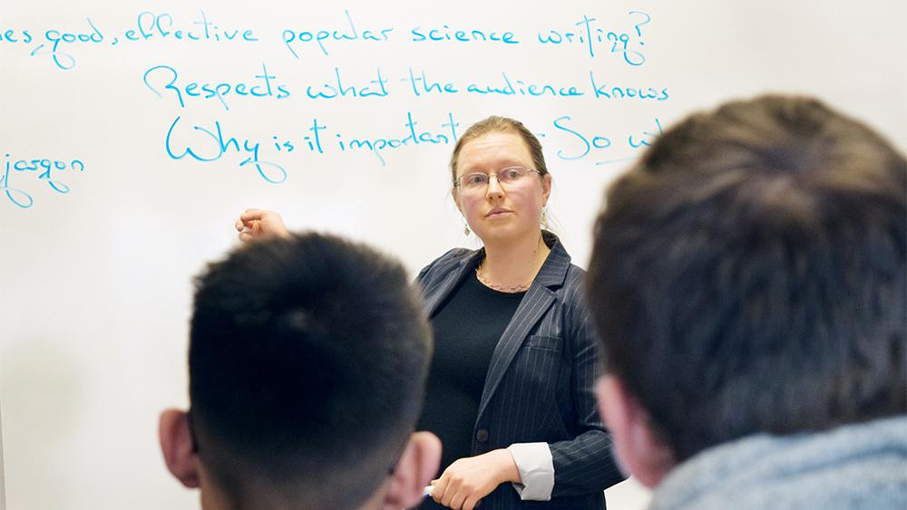 Erika Szymanski teaching