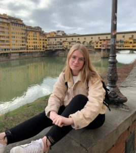 Anderson in Italy for study abroad, Spring 2020.