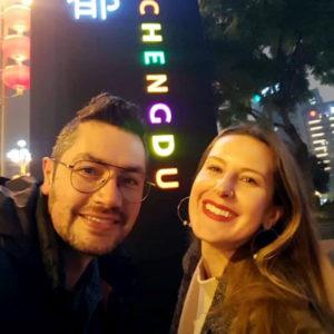 Kristen Mullen and husband Luis Moya