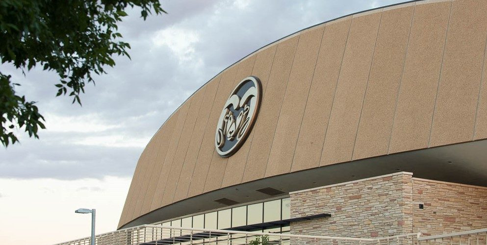 Arena with CSU ram logo