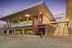 Lory Student Center at night