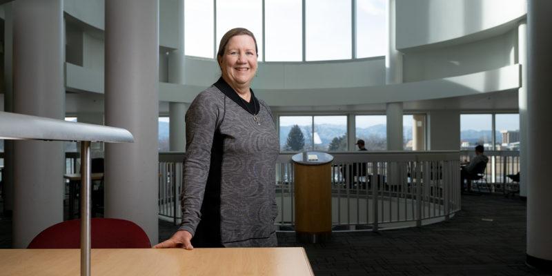 Andrea Purdy in Morgan Library