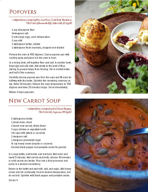 Popovers and new carrot soup recipes from SerVe