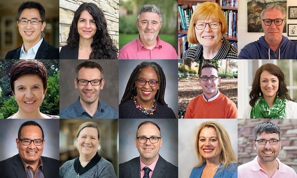 Collage of CLA faculty and staff who won awards in 2020
