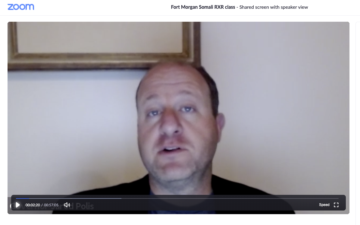 Gov. Jared Polis on Zoom