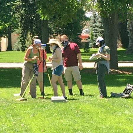 Carly DeSanto and anthropology students participating in 2020 field school