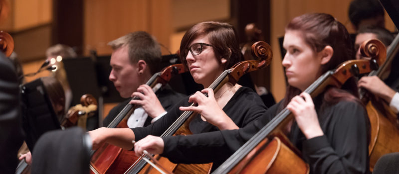 Three members of the CSU Symphony Orchestra