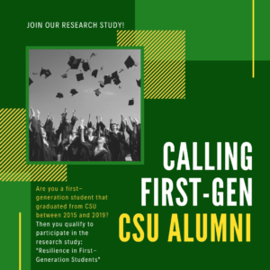 First generation alumni needed for research study