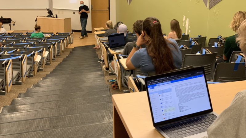 Brad Kaye (pictured) and other instructors at CSU have had to adapt to the changing classroom environment for the Fall 2020 semester.