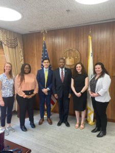 Interns meeting HUD Secretary Carson